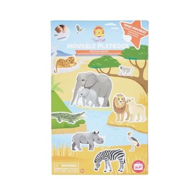 Libro de Pegatinas Removibles: Safari Africano