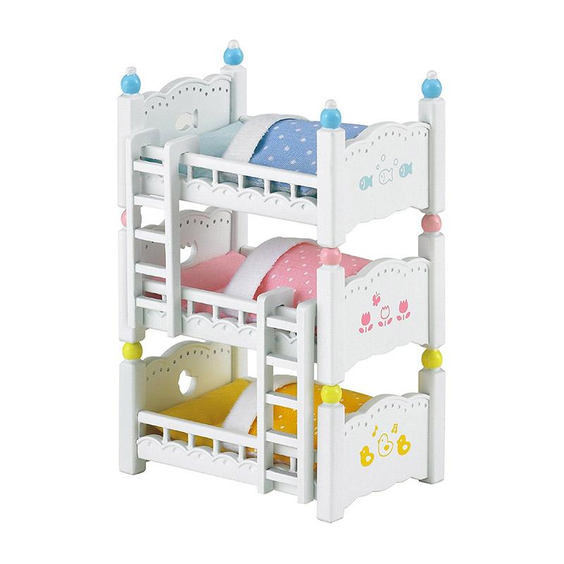 Litera triple para beb s de sylvanian families en minikidz - Literas para bebes ...