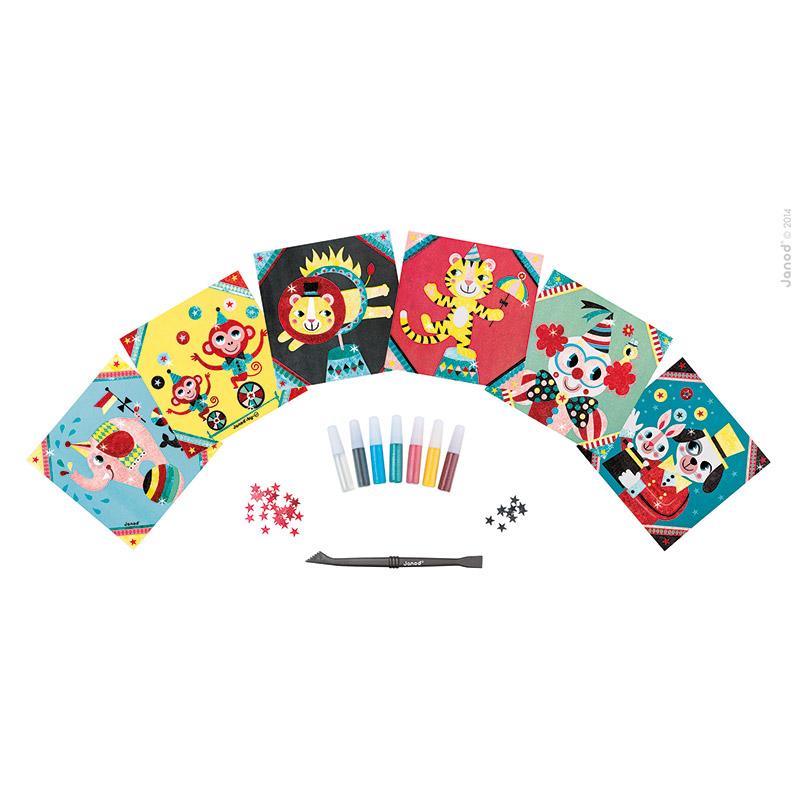 Maletín: Colorea el Circo con Purpurina