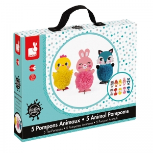 Maletín de Pompones: Animales Encantadores