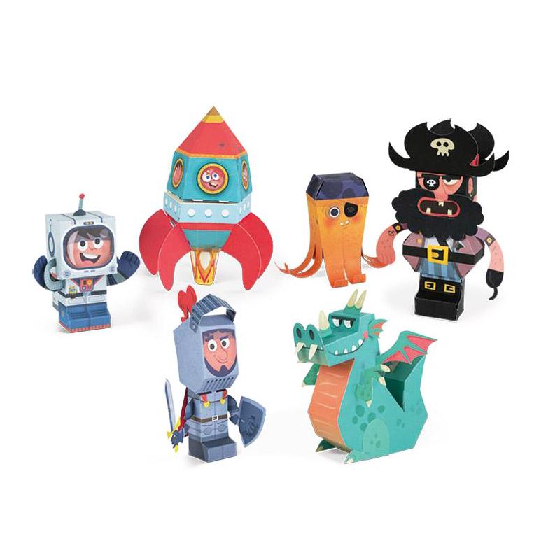 Maletín: Figuritas Paper Toys