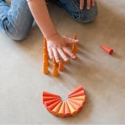 Mandala Pequeños Conos Naranjas