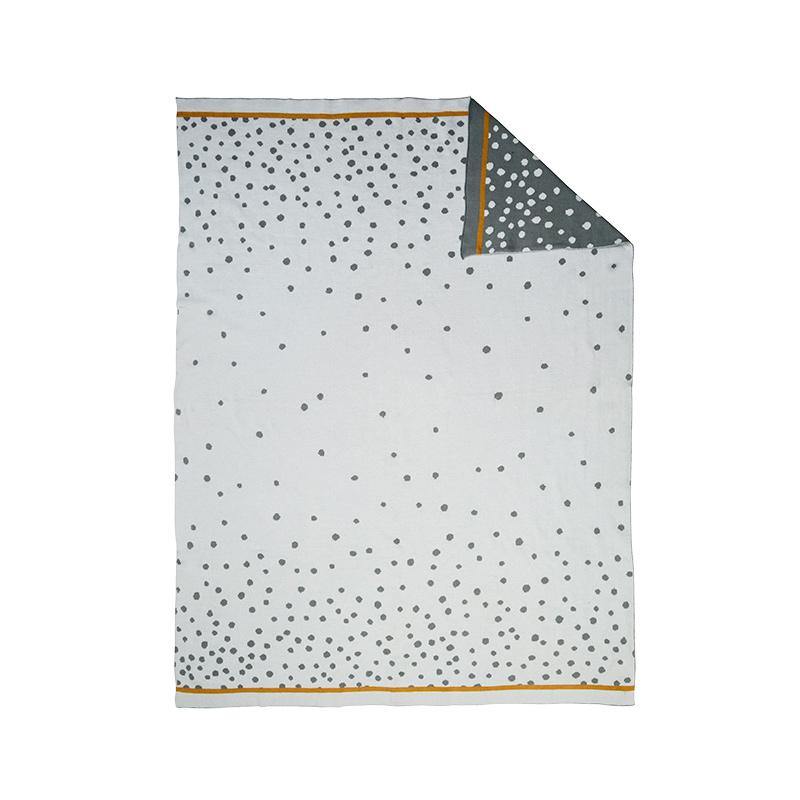 Manta de Punto: Happy Dots Gris