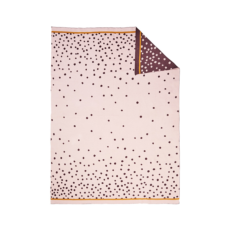 Manta de Punto: Happy Dots Rosa