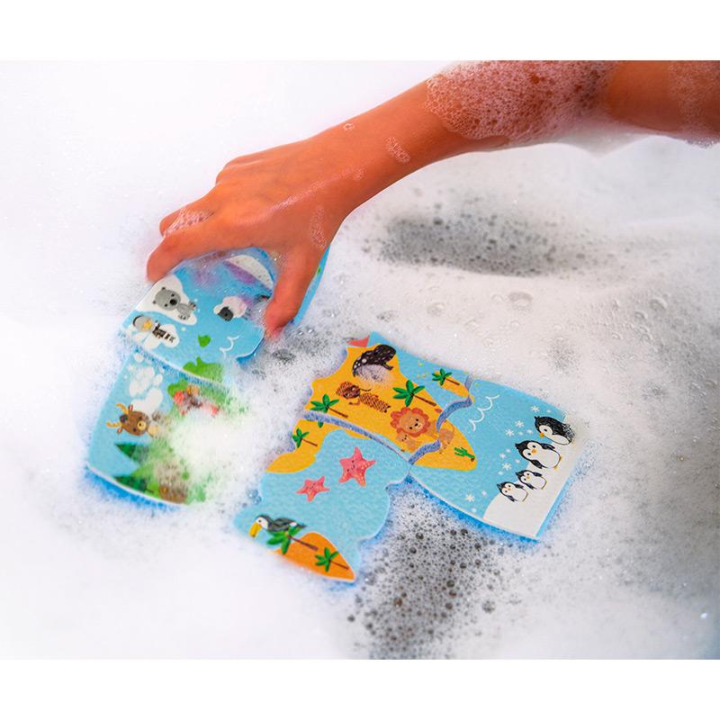 Mapa del Mundo de Baño