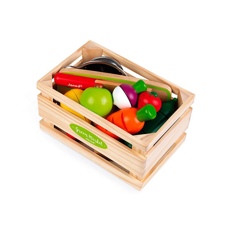 Maxi Set de Frutas y Verduras con Velcro
