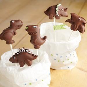 Molde Piruletas de Chocolate: Dinosaurios