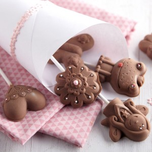 Molde Piruletas de Chocolate: Hadas