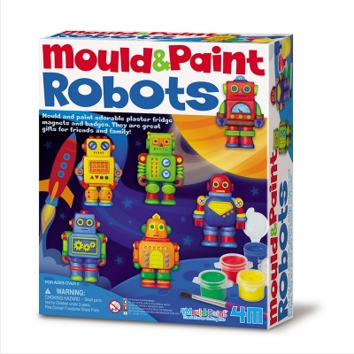 Moldea y Pinta Robots