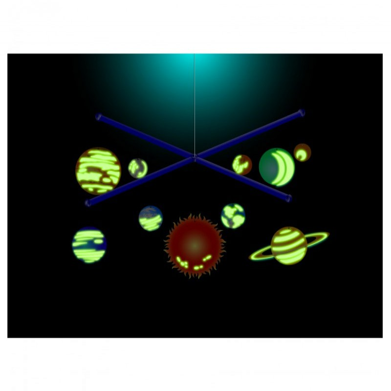 Móvil 3D del Sistema Solar