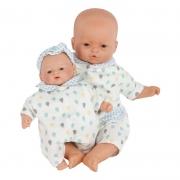 Muñeca Bebé 26 cm: Little Babies Gotas Azul