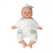 Muñeca Bebé 36 cm: Estrellitas Grises