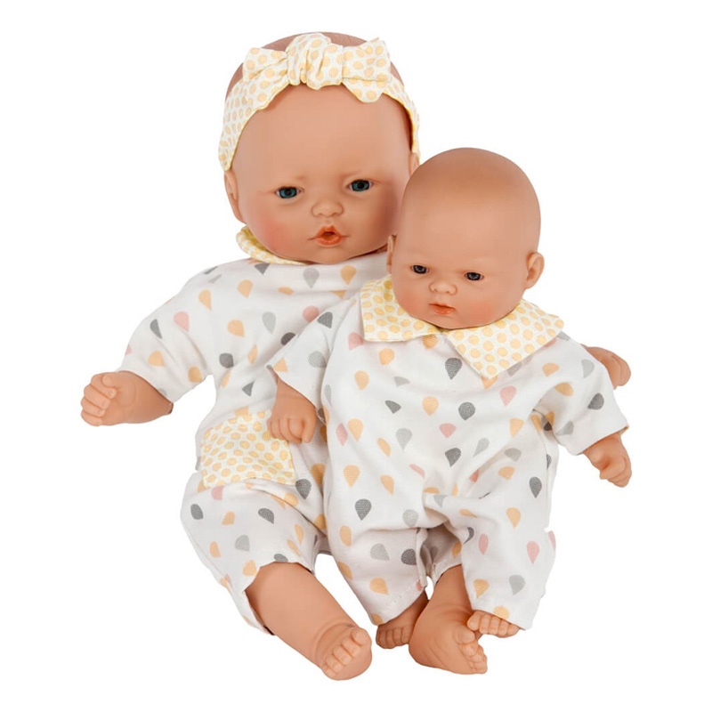 Muñeca Bebé 36 cm: Nins Gotas Amarillo