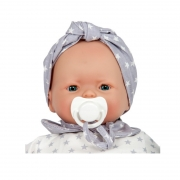 Muñeca Bebé 36 cm: Nins Stars Gris