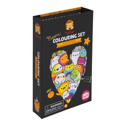 Neón Colouring Set: Glow Friends