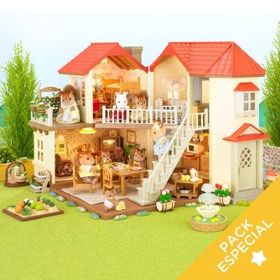 Pack Casa Grande con Muebles y Familia