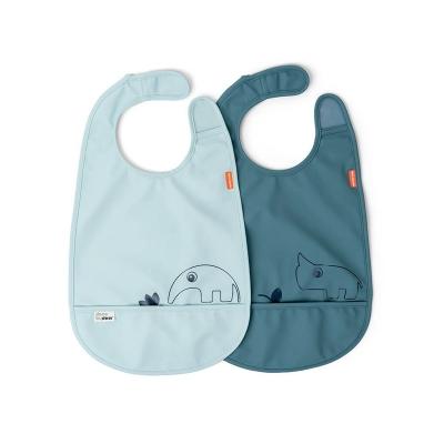 Pack de 2 Baberos con velcro Deer Friends Azul