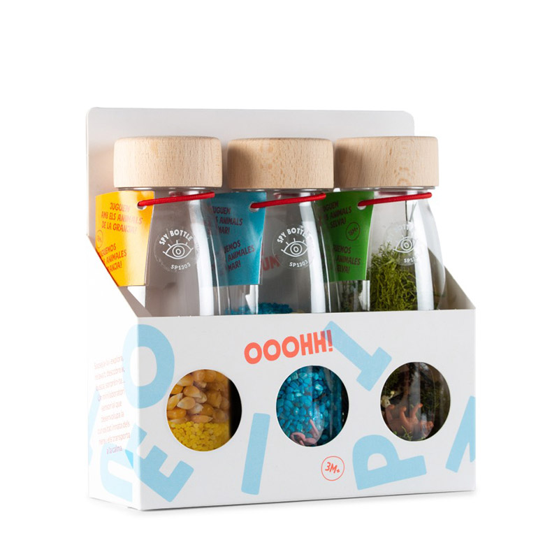 Pack de 3 Botellas Sensoriales Nature