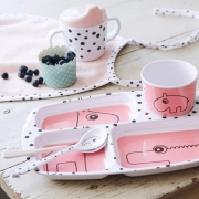 Pack de 3 Cucharas Happy Dots Rosa