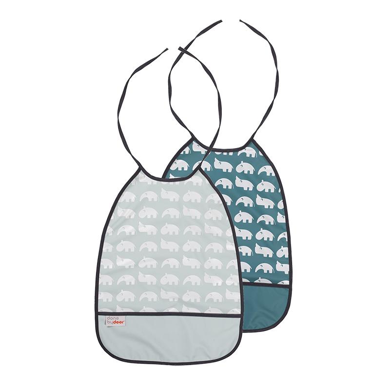 Pack de 2 Baberos Largos: Tonos Azules