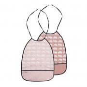 Pack de 2 Baberos Largos: Tonos Rosados