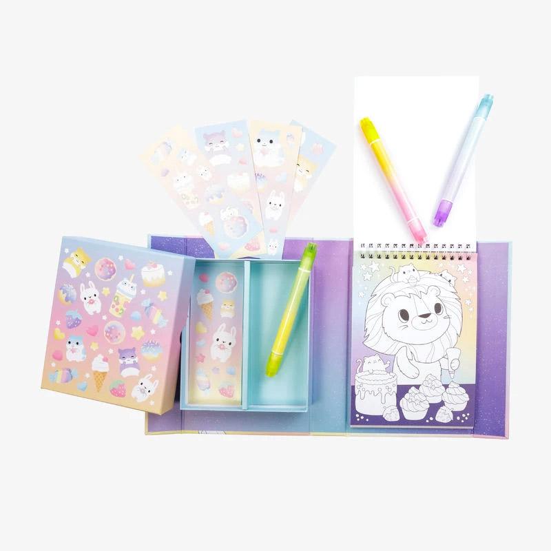 Pastel Colouring Set: Kawaii Café
