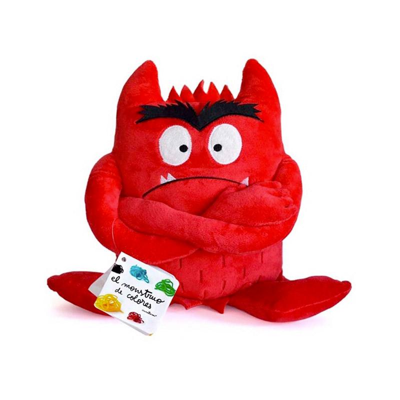 Peluche Monstruo de Colores Rojo