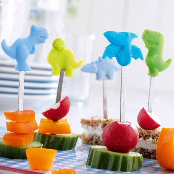 Pinchos para Snacks: Dinosaurios