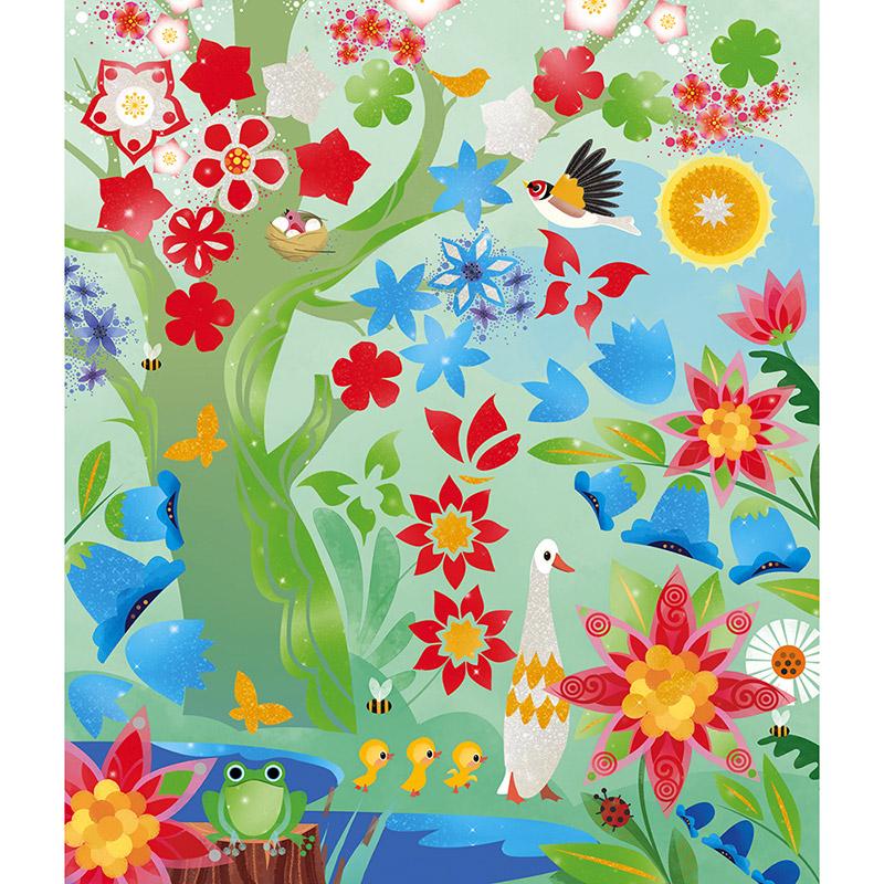 Pintura Nacarada con Plantilla 4 Estaciones