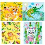 Pintura para Dedos Panda y sus Amigos