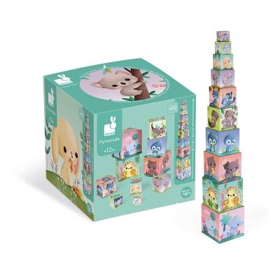 Pirámide Cuadrada: Animales Adorables