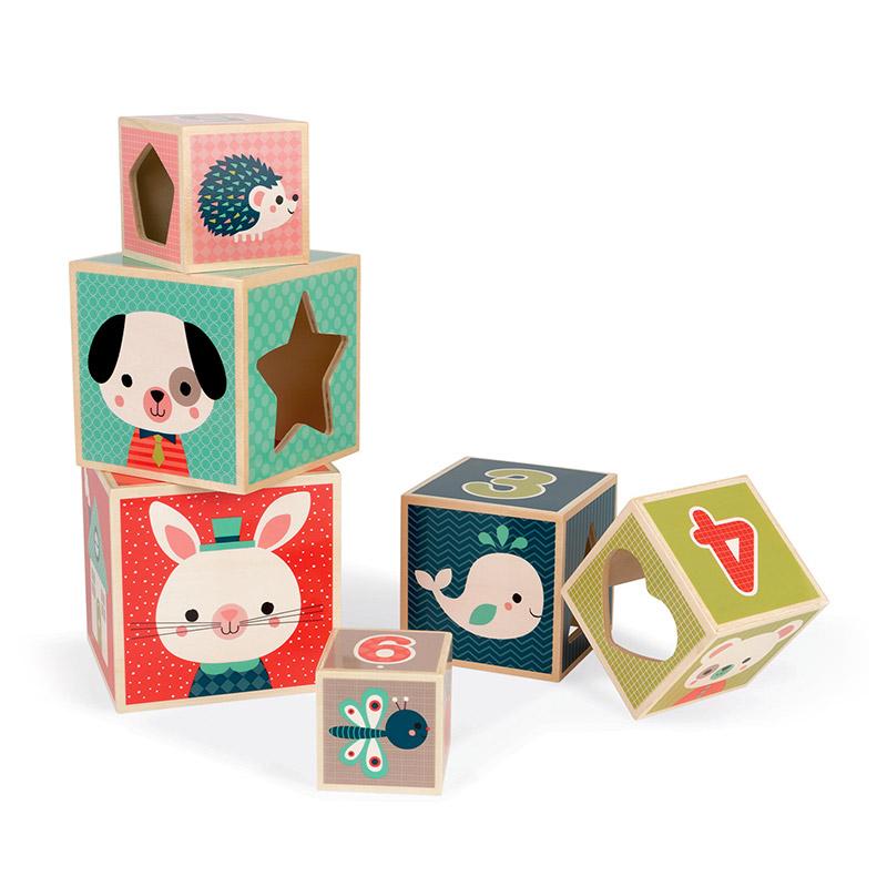 Pirámide de Cubos Baby Forest