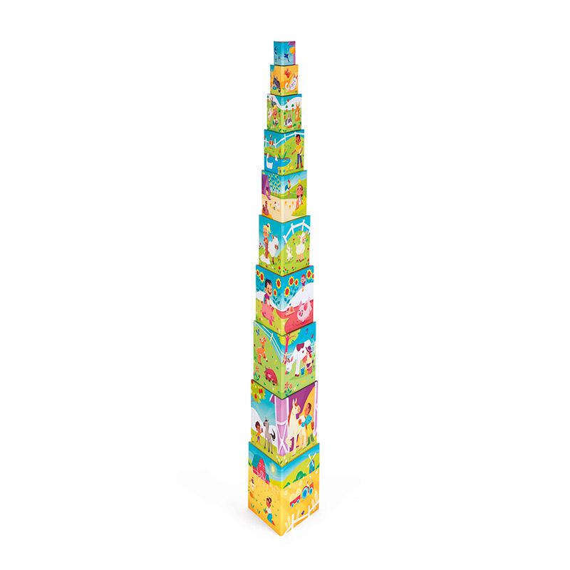Pirámide Triangular: La Vida en la Granja