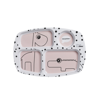 Plato con Compartimentos: Happy Dots Rosa