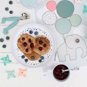 Plato Yummy Happy Dots Gris