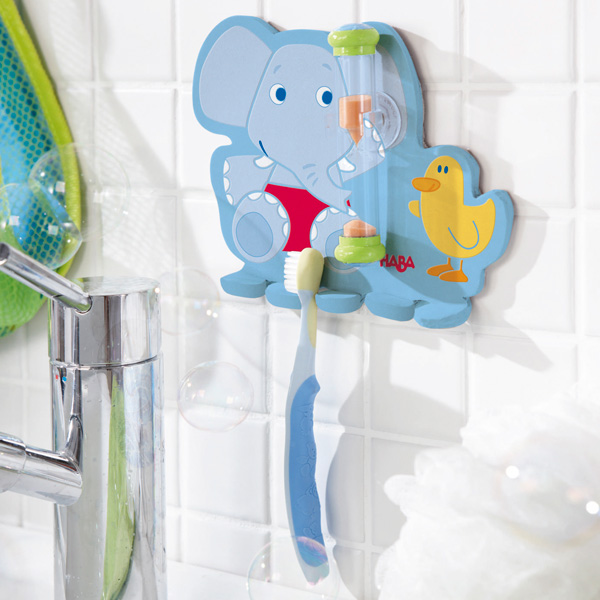 Accesorios De Baño Infantiles:Portacepillos con Reloj Bañofante de Haba en MiniKidz