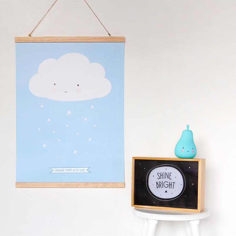 Póster Nube Azul