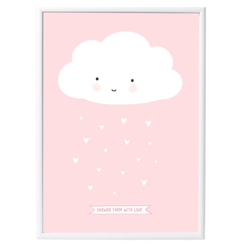 Póster Nube Rosa