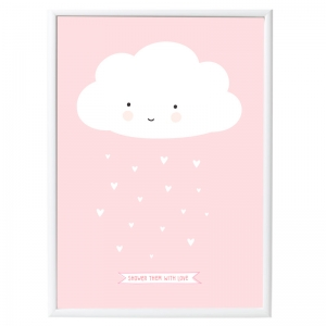 Póster Nube Rosa