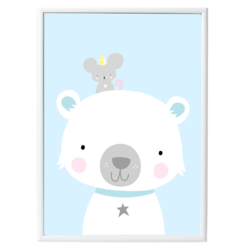 Póster Oso Polar & Co