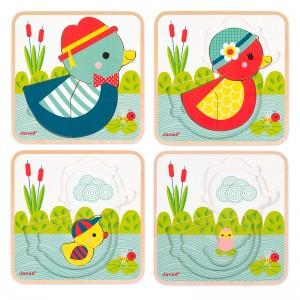 Puzzle 3 niveles: A Contar Patos
