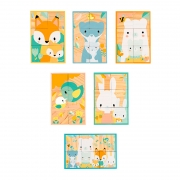 Puzzle 6 Cubos con Bandeja Pure