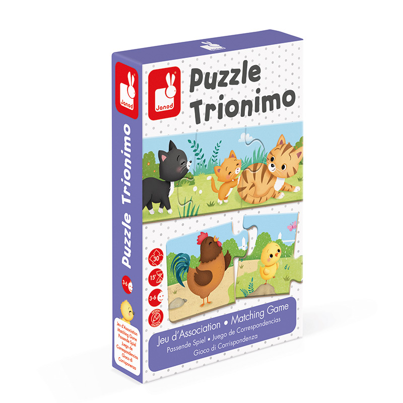 Puzzle de Animales Trionimo