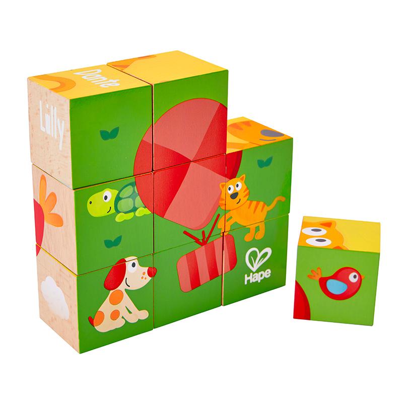 Puzzle de Cubos: Pepe & Friends