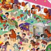 Puzzle de Observación Hípica: 208 piezas