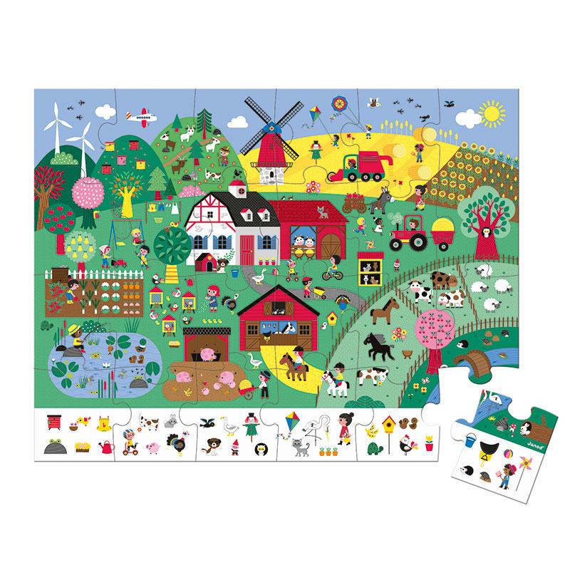 Puzzle de Observación la Granja: 24 piezas