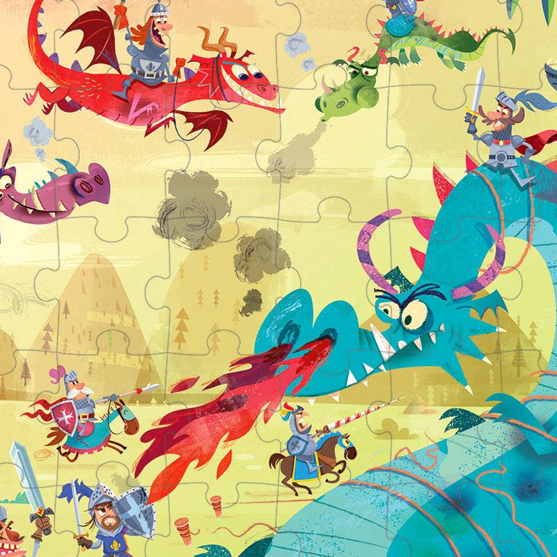 Puzzle Dragones: 54 piezas