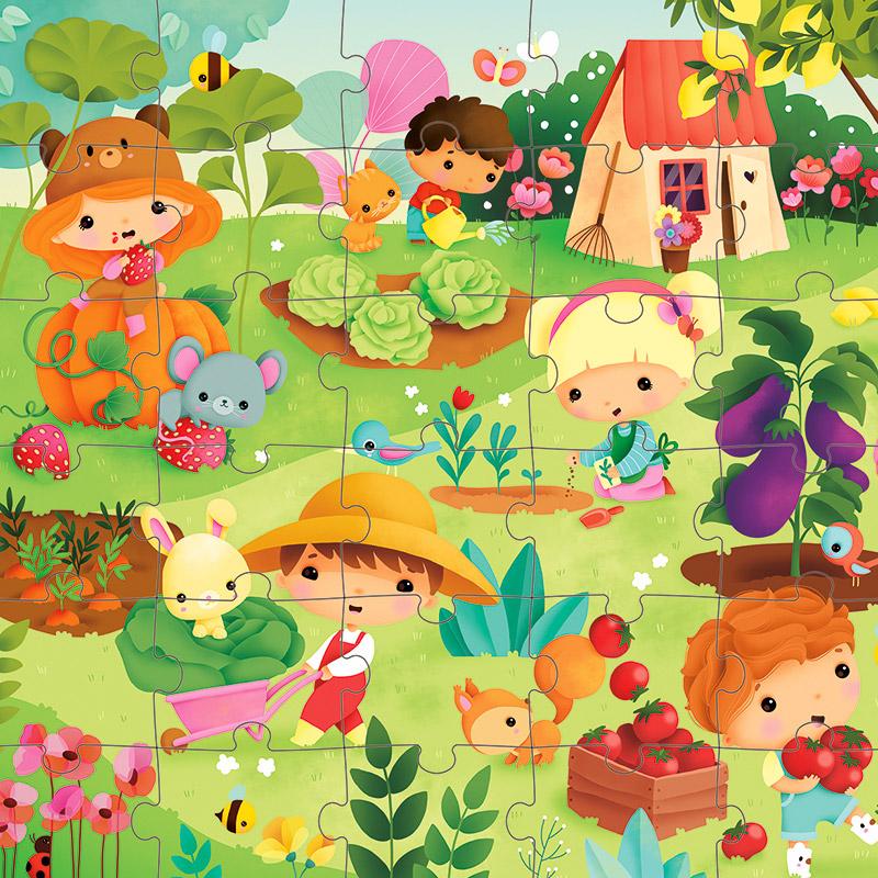 Puzzle el Huerto: 36 piezas