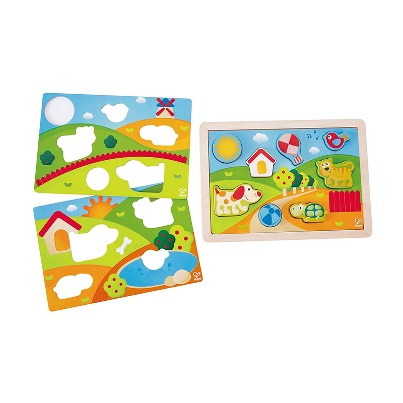 Puzzle Encajable 3 en 1: Pepe & Friends