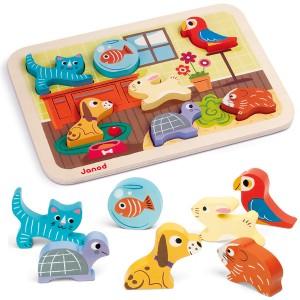 Puzzle Encajable Animales Domésticos
